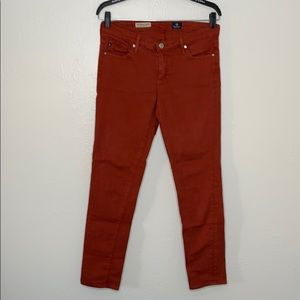 AG Adriano Goldschmied burnt orange skinny pant 28